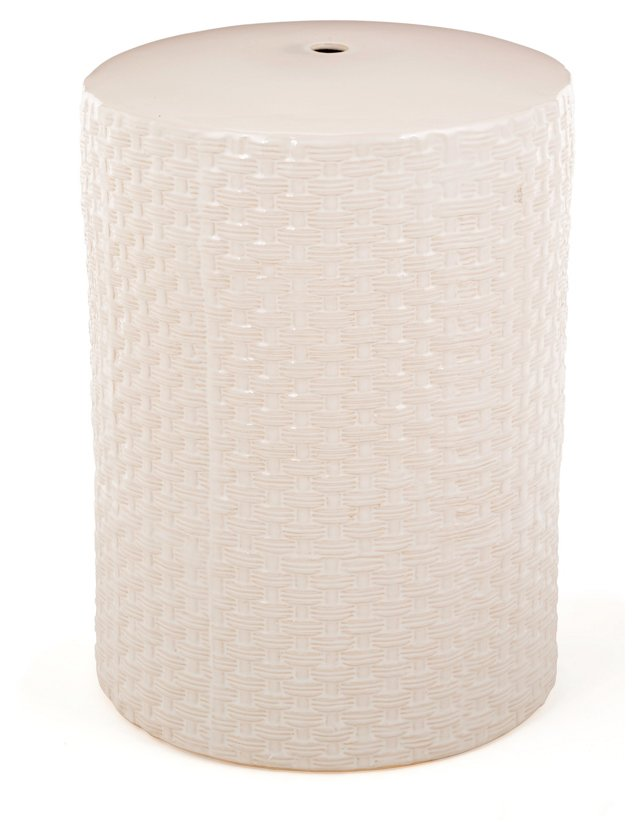 Theresa Garden Stool, Off-White