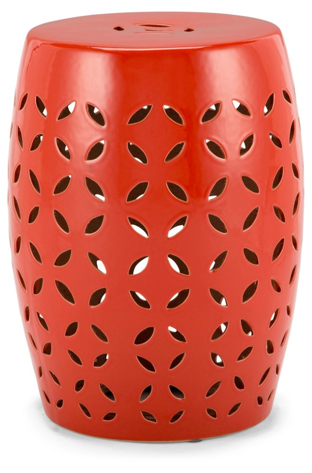 Gretchen Garden Stool, Red