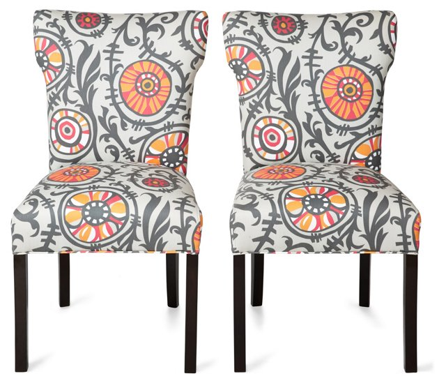 Maria Side Chairs, Pair