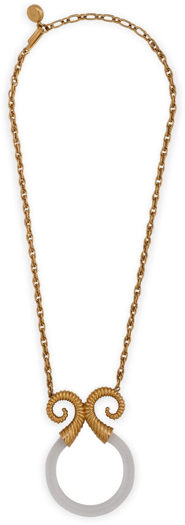 Crown Trifari Lucite Necklace