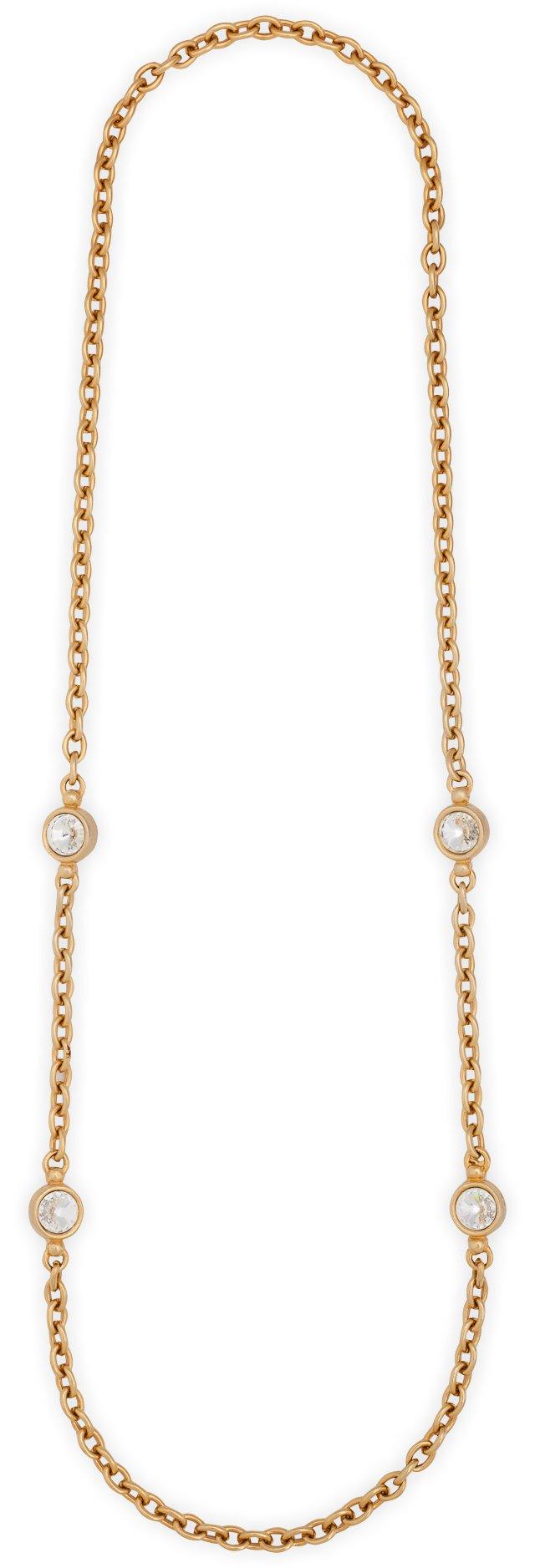 1980s Rhinestone Sautoir Necklace