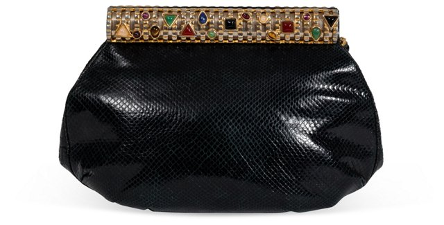 Judith Leiber Jeweled Lizard Clutch