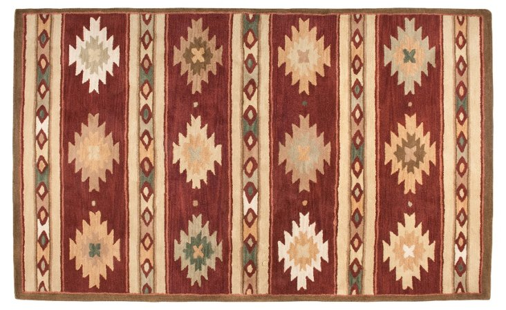 Chapa Rug, Dark Cherry/Multi