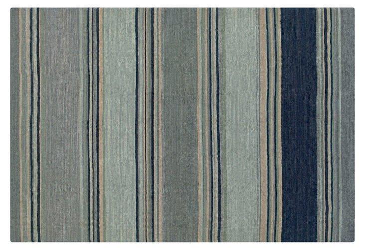 Kimi Flat-Weave Rug, Blue