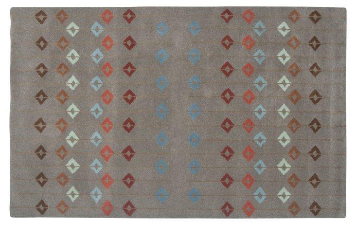 2' x 3' Sanford Rug, Brown/Multi