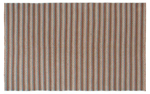 King Flat-Weave Rug, Brown