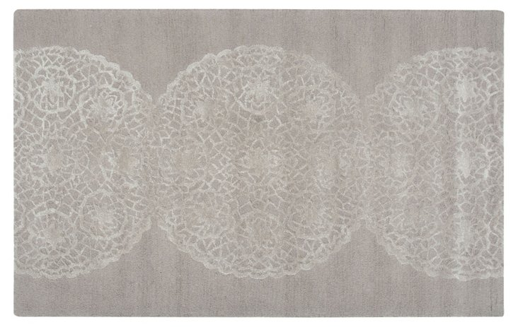 5' x 8' Souda Rug, Light Gray/Ivory