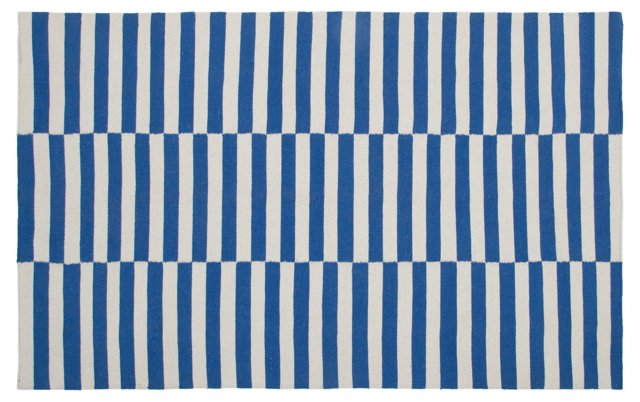 Naida Flat-Weave Rug, Blue
