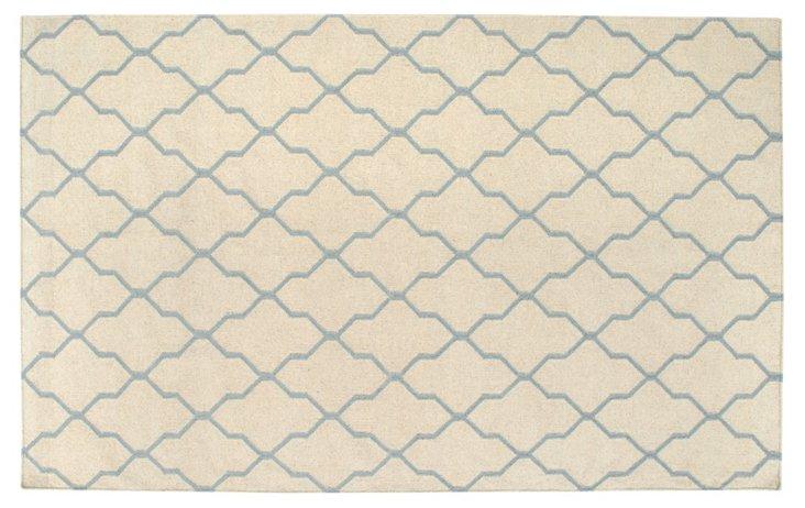 Cleo Flat-Weave Rug, Beige