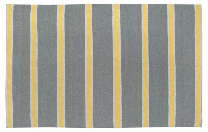 Cassia Flat-Weave Rug, Gray