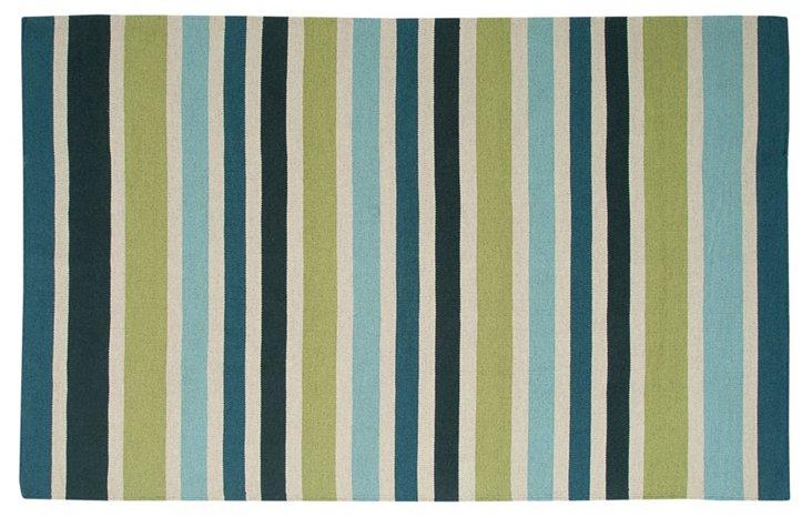 Eleni Flat-Weave Rug, Green/Blue