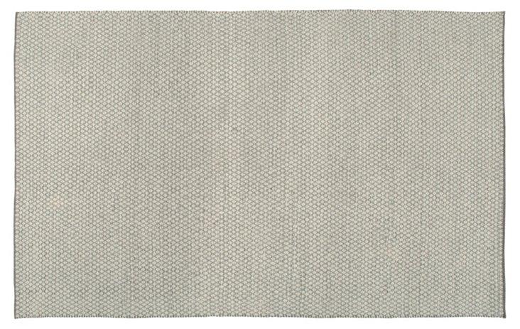 Zeva Flat-Weave Rug, Gray