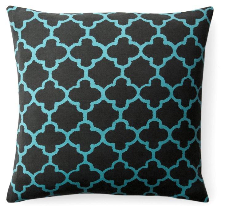 Morocco 18x18 Pillow, Charcoal