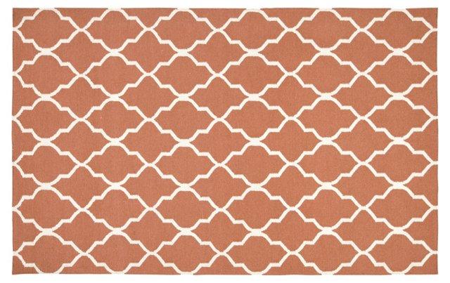 Cleo Flat-Weave Rug, Orange