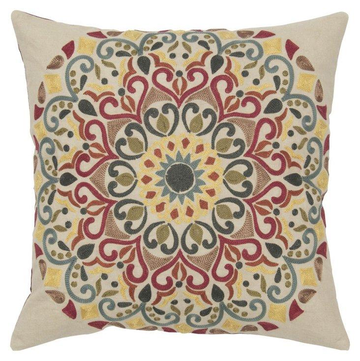 Lynn 18x18 Cotton Pillow, Multi