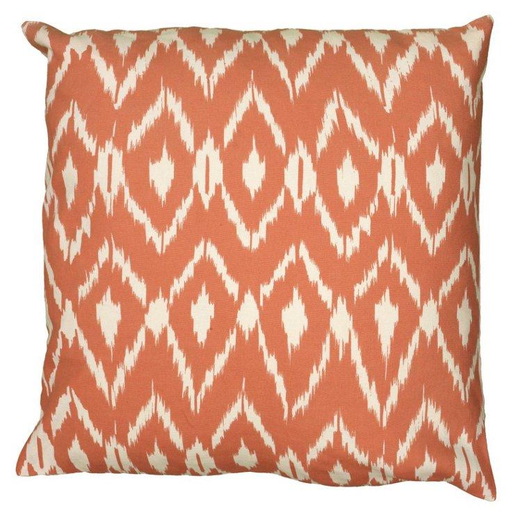 Mia 18x18 Pillow, Orange