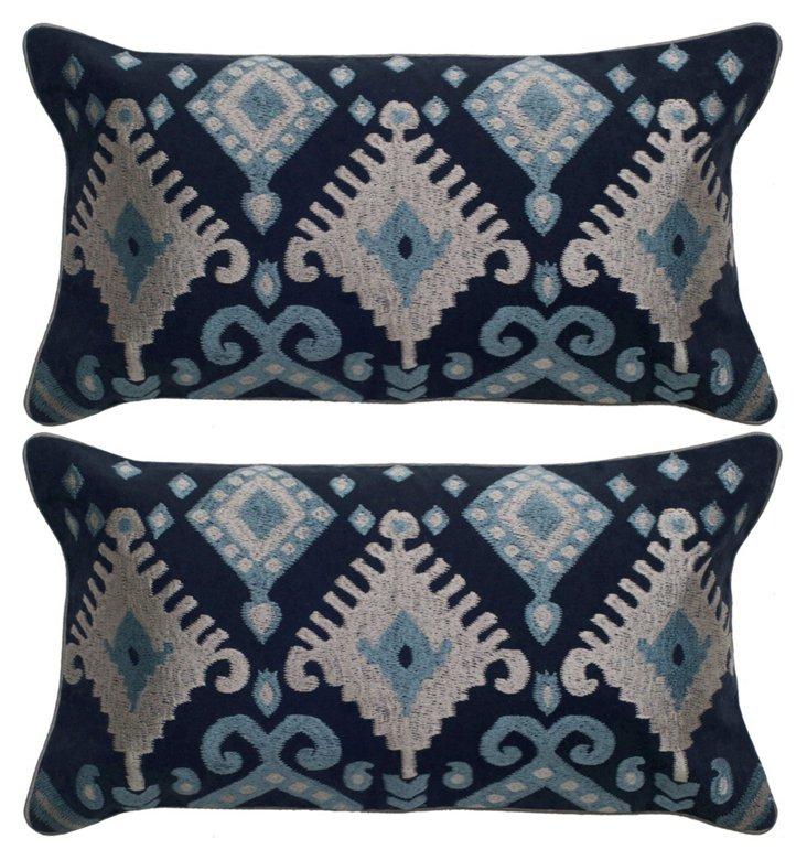 S/2 Ornate 12x20 Pillows, Multi