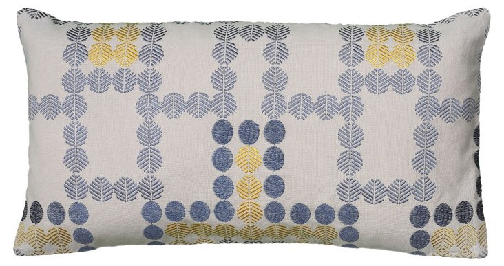 Geo 11x21 Embroidered Pillow, Multi