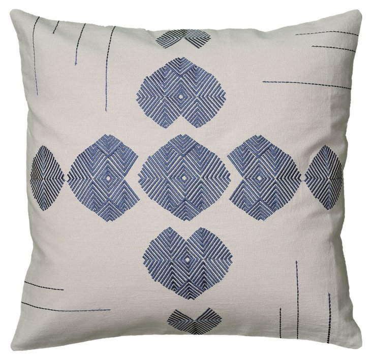 Geo 18x18 Embroidered Pillow, Multi