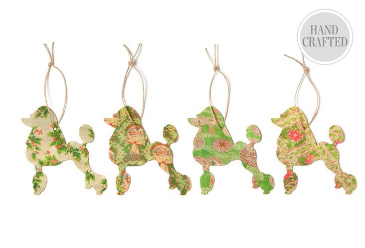 S/4 Silhouette Poodle Ornaments