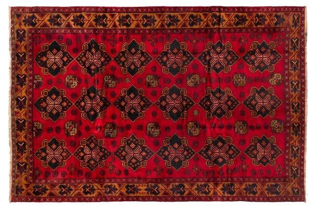 "7'2""x10'8"" Tribal Royal Rug, Red"
