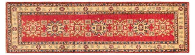 "2'9""x9'8"" Finest Gazni Runner, Red"