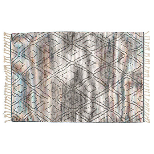 "5'3""x7'10"" Mystique Rug, Light Gray"
