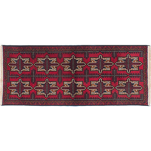 "2'8""x6'7"" Rizbaft Runner, Red/Multi"