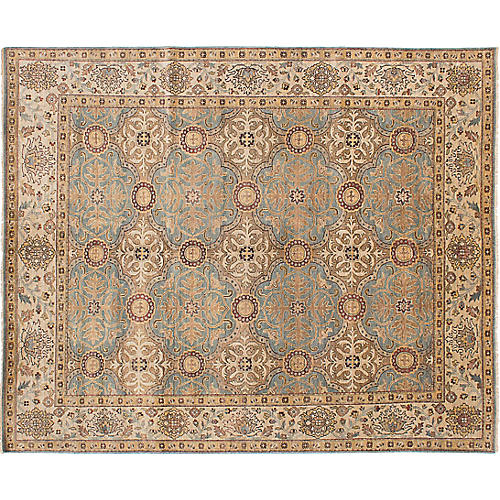 "8'x9'10"" Jules Serapi Hand-Knotted Rug, Beige"