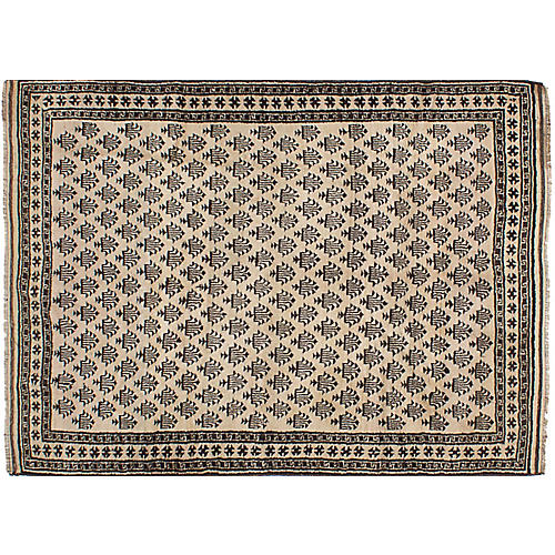 """5'5""""x7'8"""" Transition Hand-Knotted Rug, Ivory"""