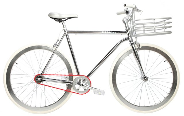 Men's Small Regard Bike, Silver