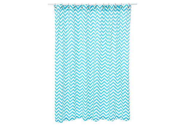 Chevron shower curtain girl blue prints amp patterns one kings lane