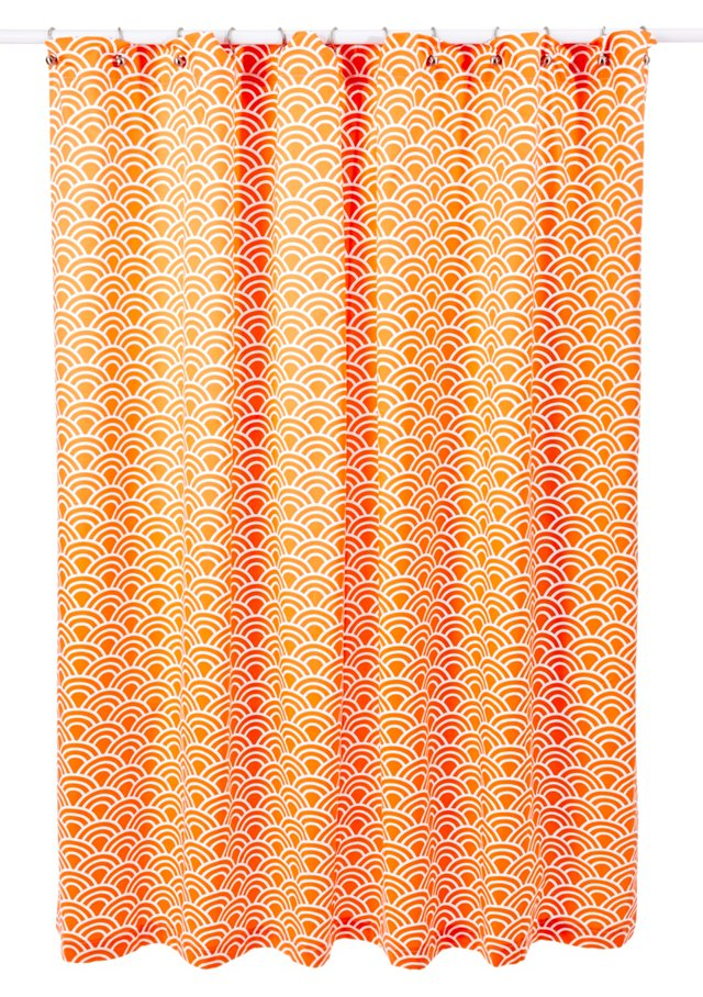 Swell Shower Curtain, Tangerine