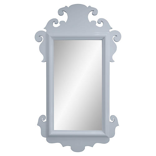 Charleston Wall Mirror, Hinting Blue