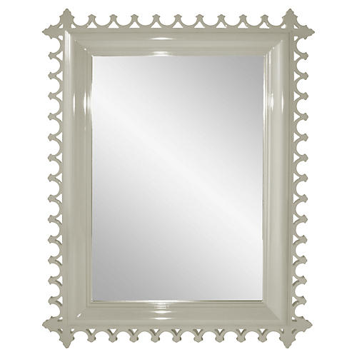 Newport Wall Mirror, Fawn Brindle