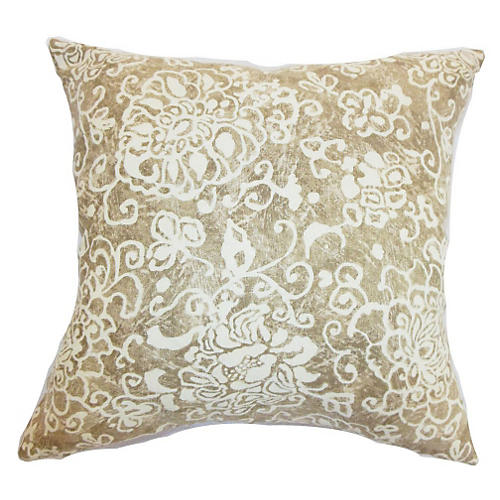 Jaffna 18x18 Pillow, Wheat