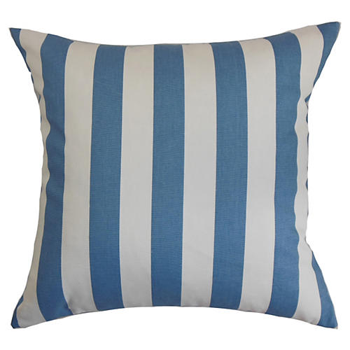 Ilaam Striped Pillow, Baby Blue