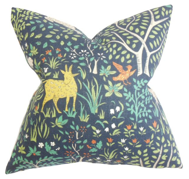 Nature 18x18 Cotton Pillow, Multi