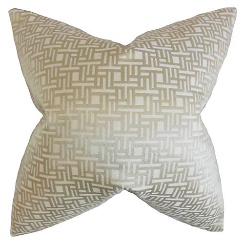 Maze 18x18 Pillow, Gray
