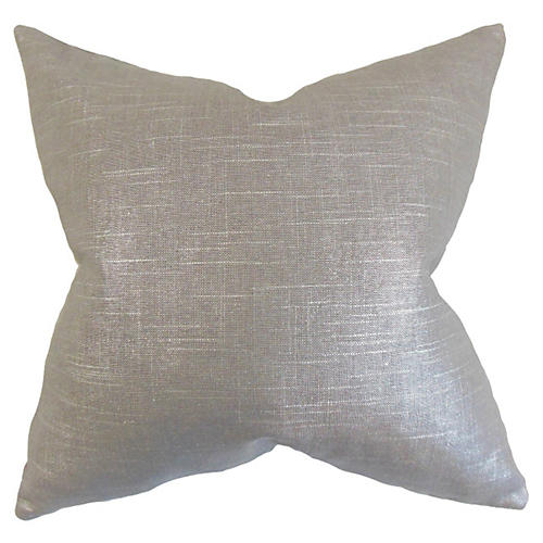 Shimmer Pillow, Gray Linen