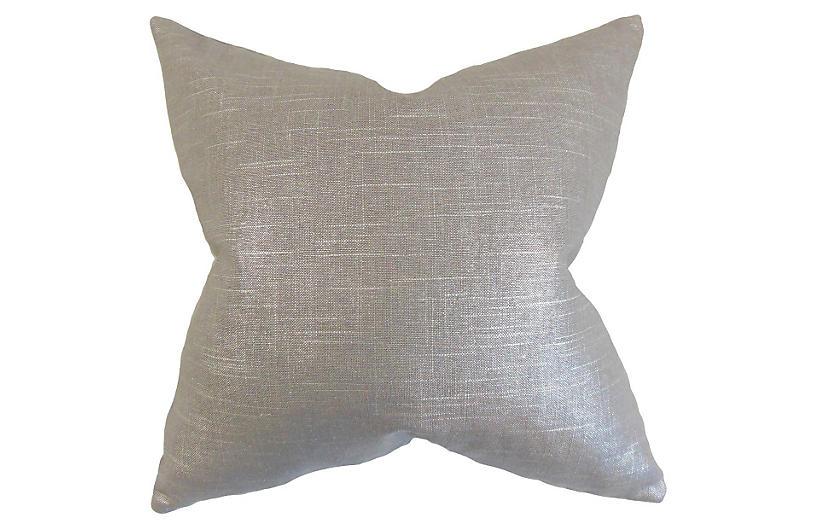 Shimmer Pillow, Gray Linen