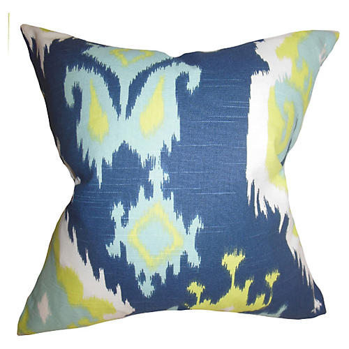 Ikat 18x18 Pillow, Blue