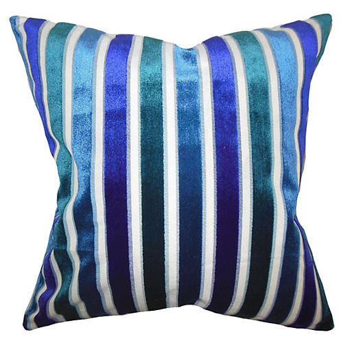 Alton 18x18 Stripe Pillow, Ultramarine