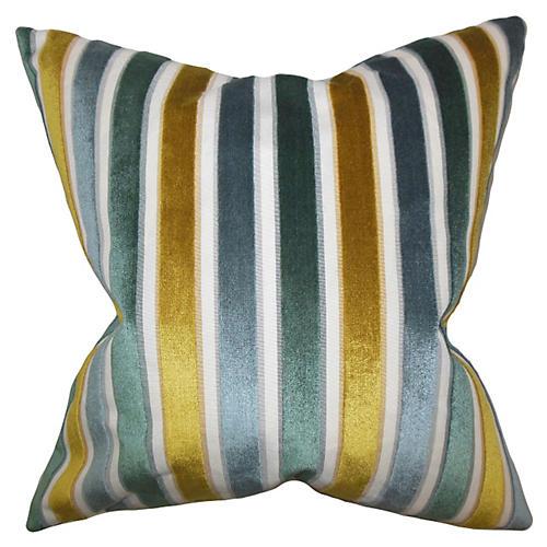 Alton 18x18 Stripe Pillow, Lagoon