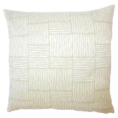 Tread Outdoor Pillow, Green