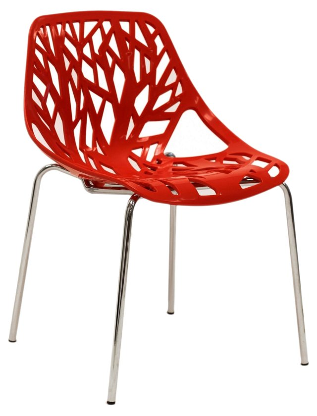 DNU, IK-Worby Chair, Cherry Red