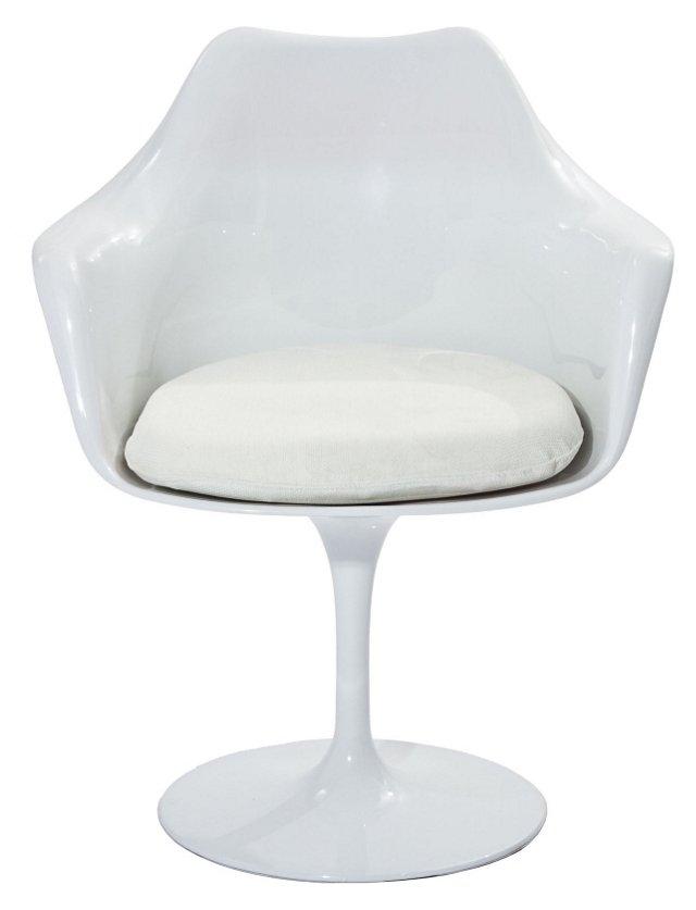 *IK Lippa Armchair, White