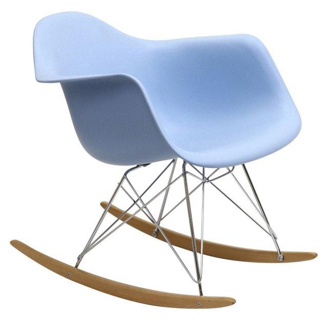 *IK Brooks Rocking Chair, Powder Blue
