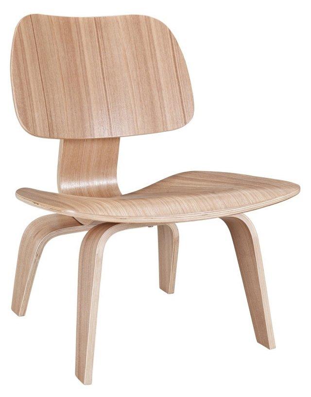 *IK Colbert Wood Lounge Chair, Natural