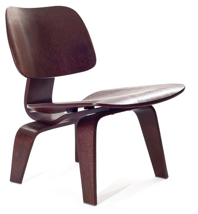 *IK Colbert Wood Lounge Chair, Wenge